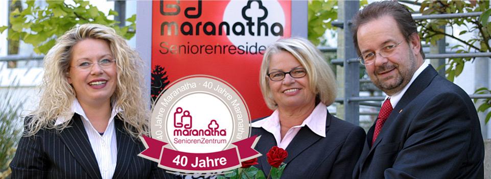 Die Leitung des Maranatha Seniorenzenntrums in Bad Bodendorf: Sylvia Linden, Hannelore Spitzlei und Harald Monschau.