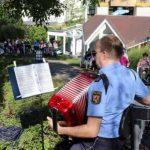 Sonniges Gartenkonzert des Landespolizeiorchester Rheinland-Pfalz